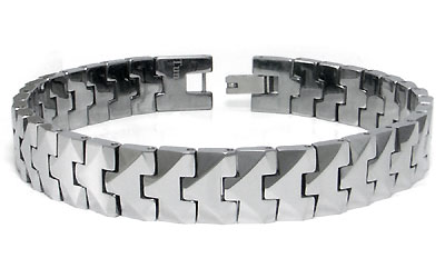 SUPRANO Tungsten Carbide Men's Link Bracelet
