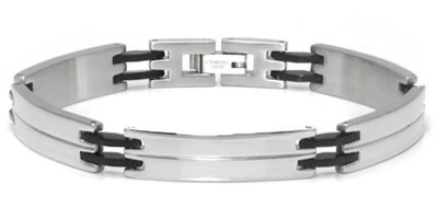 Stainless Steel Engravable Double ID Men's Bracelet