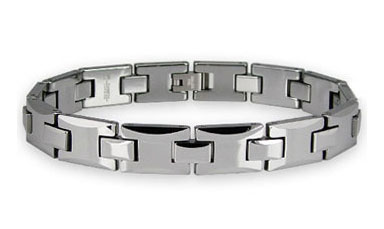 Tungsten Carbide High Polished Men's Link Bracelet