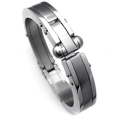 Royce Stainless Steel Mechanic Men's Cuff Bracelet