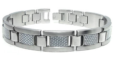 Stainless Steel Carbon Fiber Men's Bracelet :  man designer jewelry jewellery