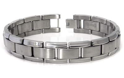 Titanium Men's Two Tone Bracelet