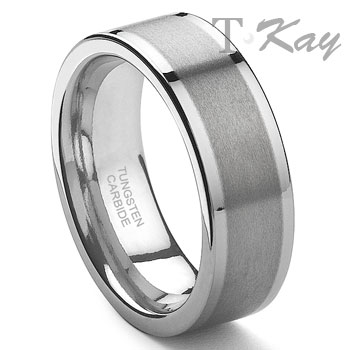 EINAR Tungsten Carbide Wedding Band Ring