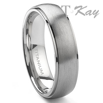LONDO Titanium 6mm Satin Finish Wedding Band Ring