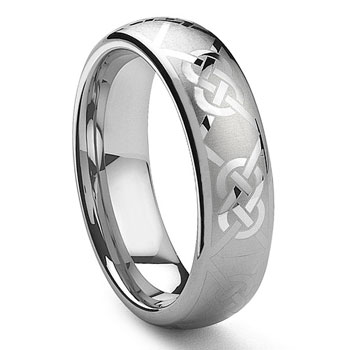 KAYLORD Tungsten Laser Engraved Celtic Knot Ring,Band,CORBIN,GRECIAN
