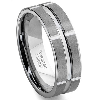 XENOS Tungsten Carbide Band Ring