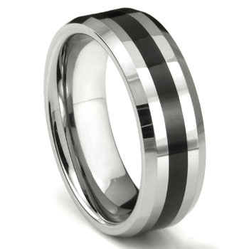 LONZO Tungsten Carbide Wedding Ring