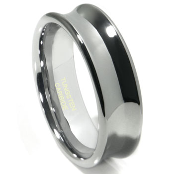 VELLI Tungsten Carbide Concave Wedding Band Ring