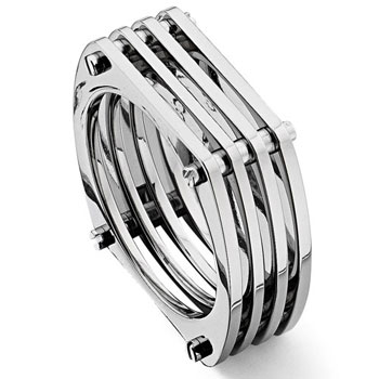 Titanium Mesh Men's Band Ring
