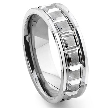 VIKINGS Tungsten Carbide Wedding Band Ring