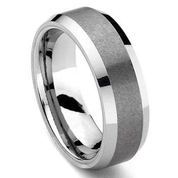 RASORET Tungsten Carbide Ring in Comfort Fit and Satin Finish,RASO