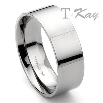 Titanium 8mm Wedding Band Ring