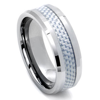 INGVAR Tungsten Carbide Carbon Fiber Ring