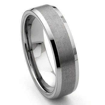 CORSAL Tungsten Carbide Satin Men's Wedding Ring :  fashion design wedding designer