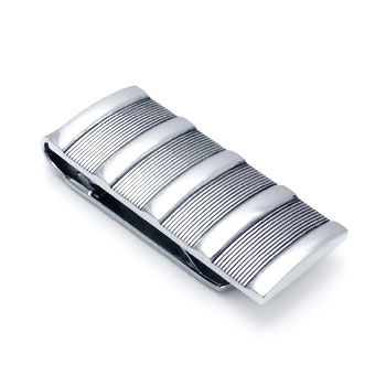 COLIBRI Stainless Steel Ribbed Money Clip
