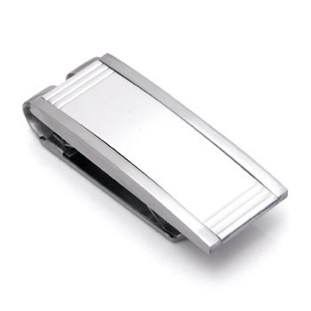 COLIBRI PRIME Stainless Steel Money Clip w/ Silver Inlay