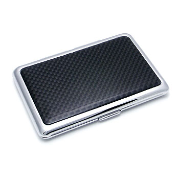 COLIBRI Stainless Steel Carbon Fiber Business Card Holder :  case stainless steel holder card