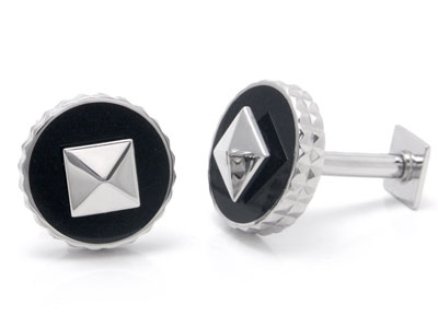 ST Dupont Palladium Reversible Cufflinks
