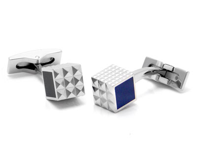 ST Dupont Palladium Black/Blue Lacquer Cufflinks
