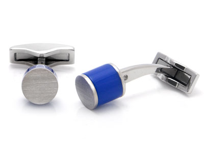 ST Dupont Palladium Blue Resin Cufflinks