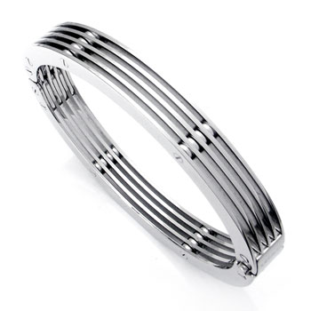 Zoppini Stainless Steel Cuff Bracelet Small