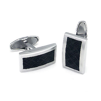 COLIBRI Stainless Steel Rubber Cufflinks