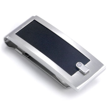 COLIBRI ELEMENT Stainless Steel Leather Diamond Money Clip