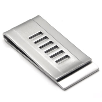 Stainless Steel Two-Tone Engravable Money Clip