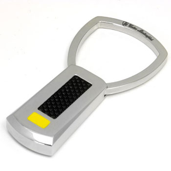 LAMBORGHINI Stainless Steel Key Ring w/ Lacquer