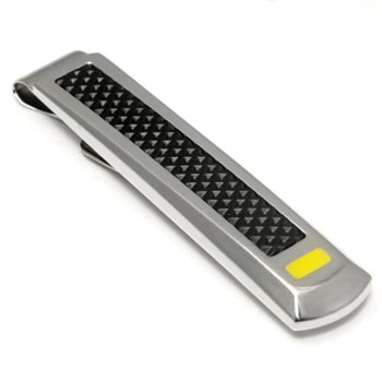 LAMBORGHINI Stainless Steel Tie Bar w/ Yellow Lacquer