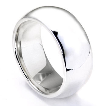 Bastian Inverun Sterling Silver High Polish Dome 0Wedding Band Ring