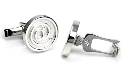 Bastian Inverun Sterling Silver @ Sign Cufflinks