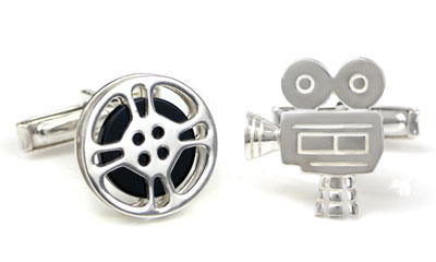 Bastian Inverun Sterling Silver Film & Camera Cufflinks