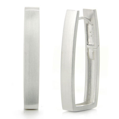 Bastian Inverun Sterling Silver Rectangle Hoop Earrings