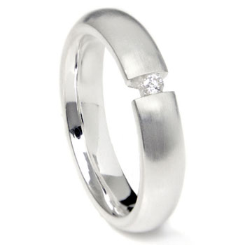 Bastian Inverun Sterling Silver Tension Set Diamond Ring