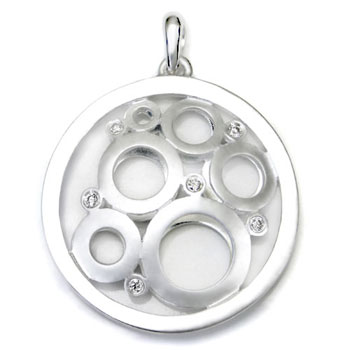 Bastian Inverun Sterling Silver Circle of Love Diamond Pendant