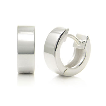 Bastian Inverun Sterling Silver High Polish Huggie Earrings