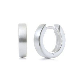 Bastian Inverun Sterling Silver Satin Finish Huggie Earrings (S)