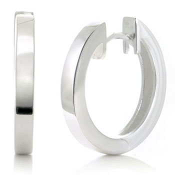 Bastian Inverun Sterling Silver High Polish Huggie Earrings (L)