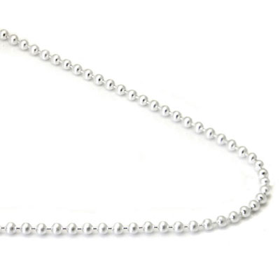 Bastian Inverun Sterling Silver High Polish 2MM Bead Chain