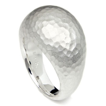 Bastian Inverun Sterling Silver Hammer Finish Ring