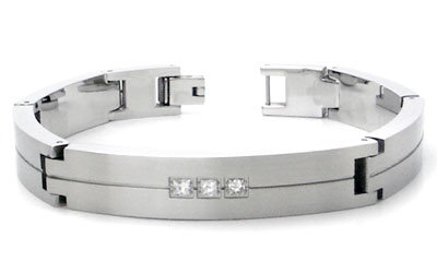 Dolan Bullock 3 Diamond Stainless Steel Bracelet
