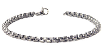 Titanium 4MM Box Link Bracelet