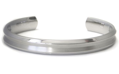 Titanium 10MM Matte Finish Cuff Bangle