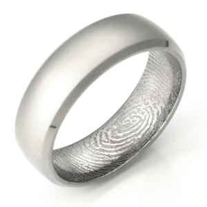 fingerprint beveled edge matte rings engagement news brilliant wedding ring now earth shop