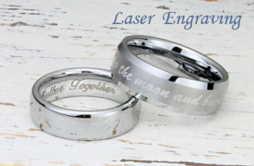Tungsten Rings Wedding Bands Titanium Kay