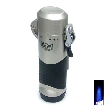 Colibri Assault Black Rubber Satin Gunmetal Lighter :  man men mens colibri