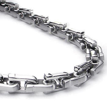 Stainless Steel Men's Wheat Link Necklace Chain