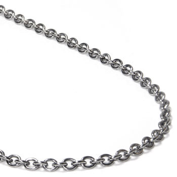 Titanium 3MM Rolo Necklace Chain