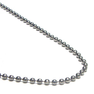 Titanium 3MM Bead Necklace Chain